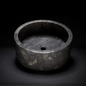 Marble Drum Vessel Sink-0