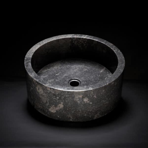 Marble Drum Vessel Sink-0