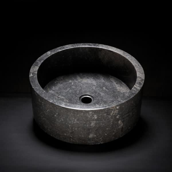 Marble Drum Vessel Sink-153