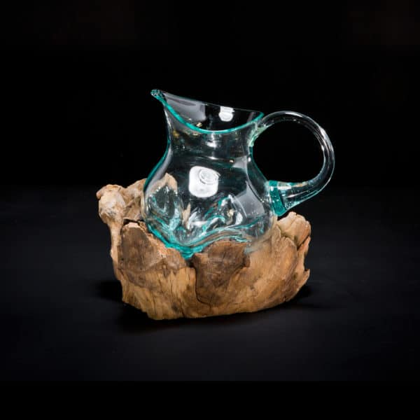 Molten Blown Glass Mini Pitcher-538