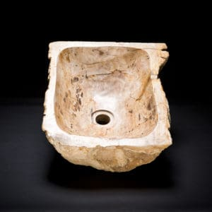 Petrified Wood Fossil Sink-0