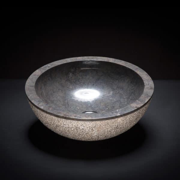 Marble Black Textured Vessel Sink-0