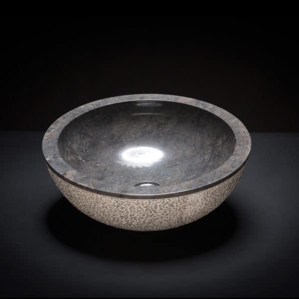 Marble Black Textured Vessel Sink-647