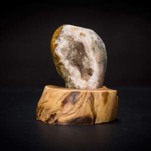 Teak Mounted Geode-0