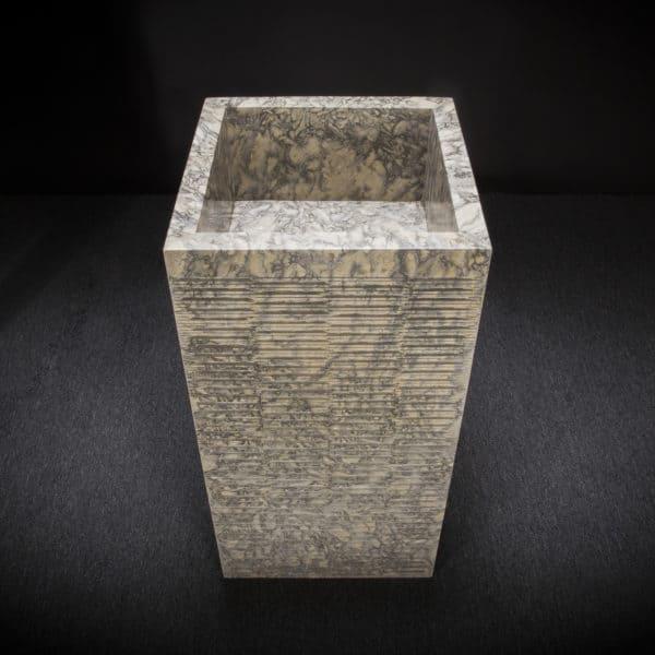 Square Marble Pedestal Sink