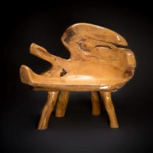 teak root furniture bench