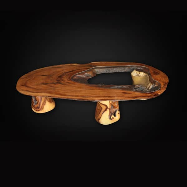 solid wood slab coffee table
