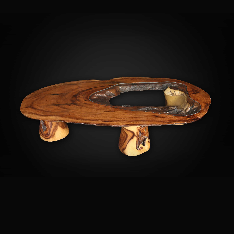 Picture of: Live Edge Wood Slab Coffee Table Decora Loft