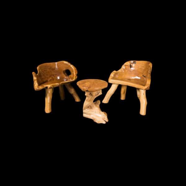 teak root furniture set