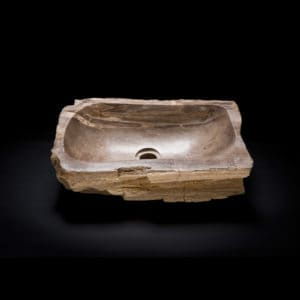 Rectangular Petrified Wood Sink