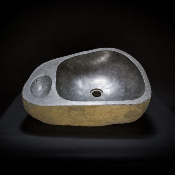 Riverstone vessel sink