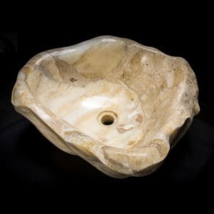 White Onyx Stone Vessel Sink
