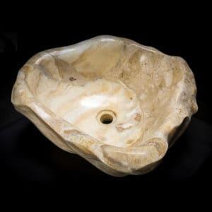 White Onyx Stone Vessel Sink