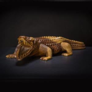 Alligator Crocodile Wood Statue