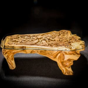 Live Edge Reclaimed Teak Root Iguana Lizard Coffee Table