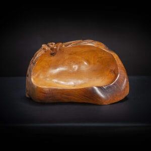 Carved Teak Bowl