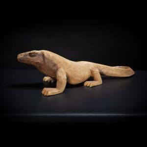 Wooden Komodo Sculpture