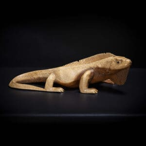 Hand Carved Iguana Sculpture