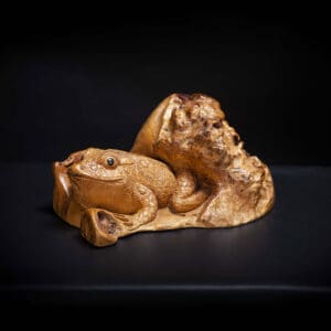 Carved Toad Sculpture