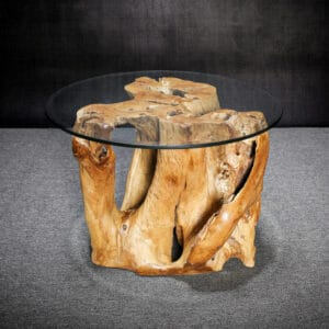 Carved Teak Root Table