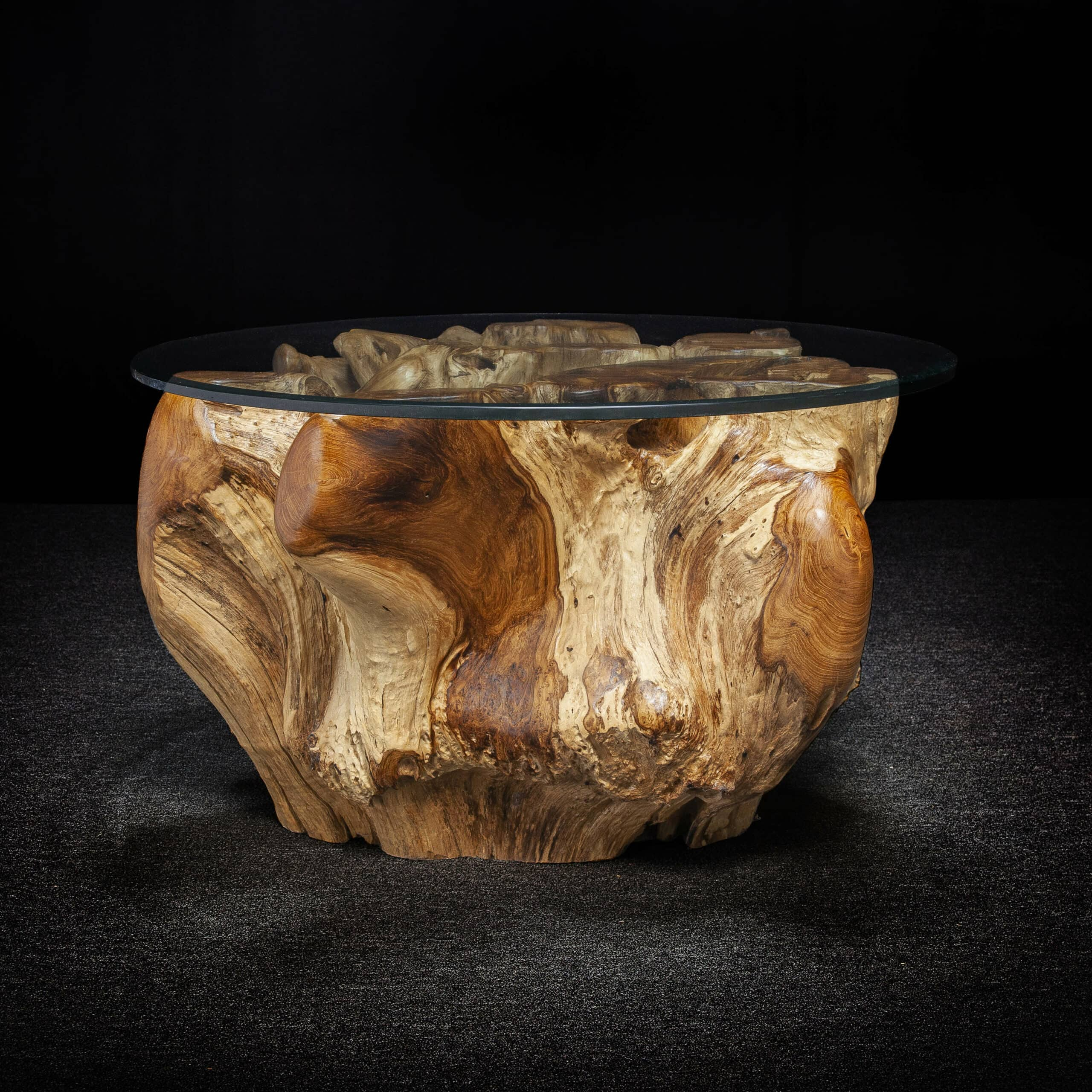 Live Edge Teak Root Coffee Table - Decora Loft