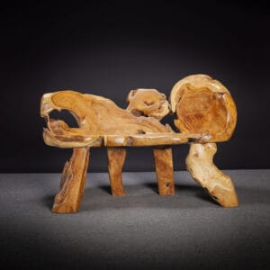 Carved Teak Root Bench