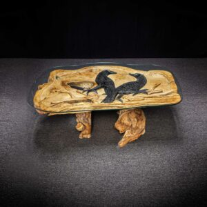 Black Crow Carved Teak Root Table