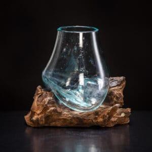 Small Molten Glass Bowl