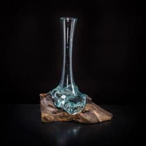 Skinny Molten Glass Vase