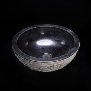 Black Marble Textured Sink