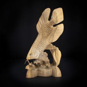 Arowana Fish Carved Statue