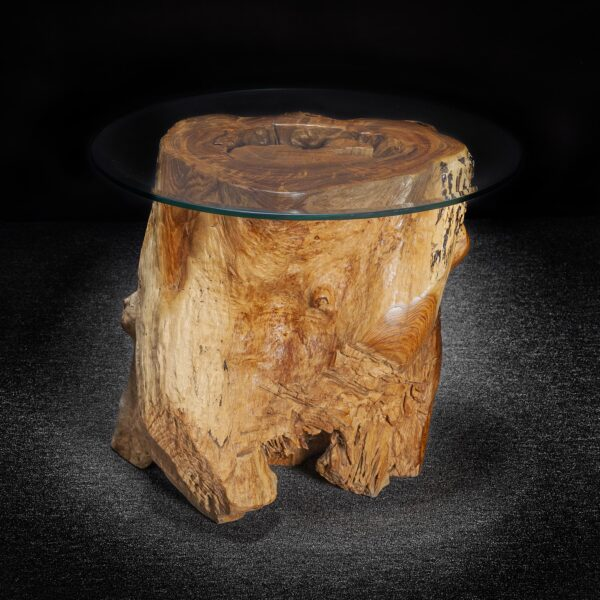 Carved Teak Root Live Edge Table