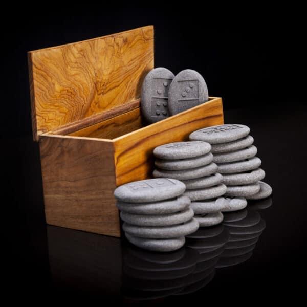 River Stone Domino Set
