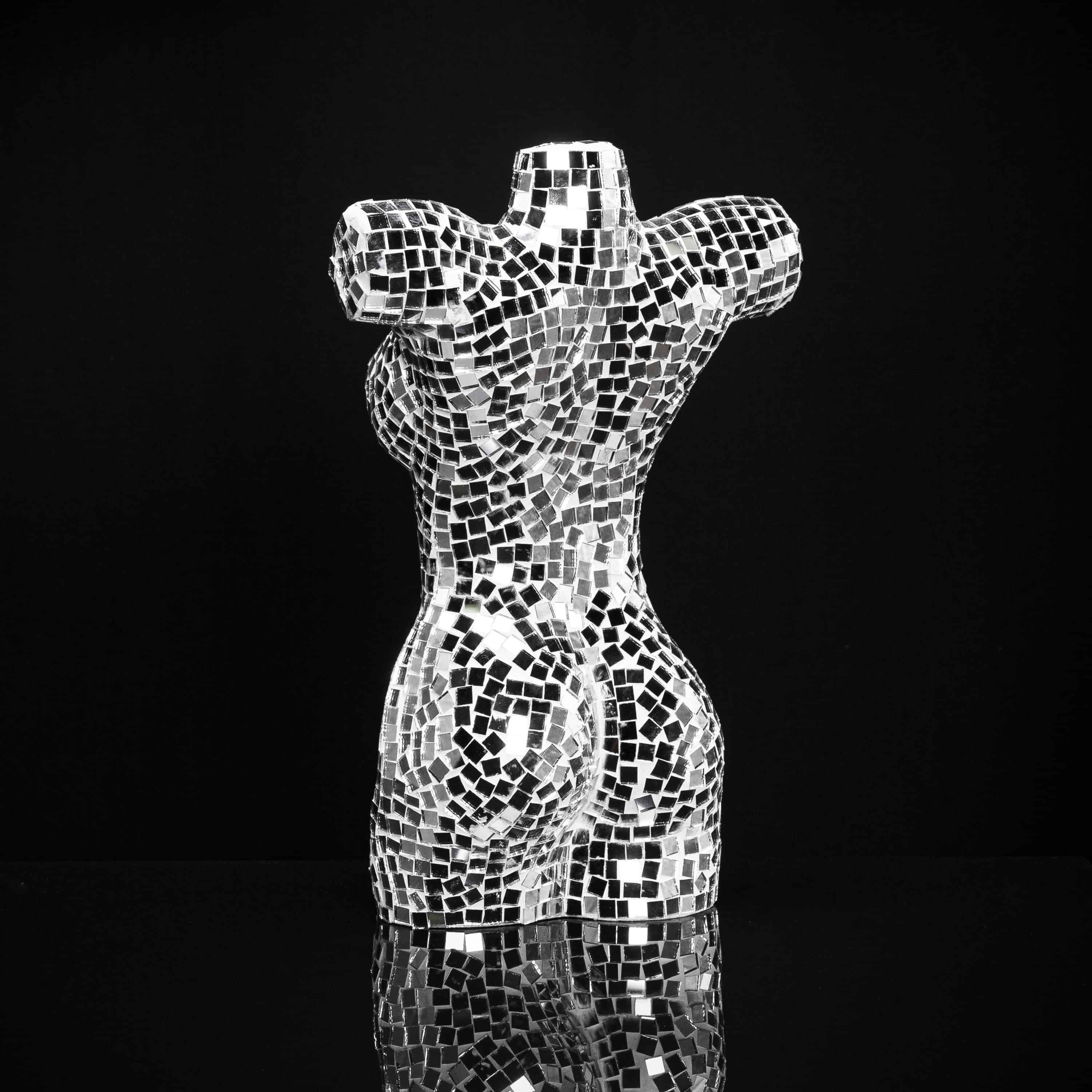 Mosaic Mirrored Woman Bust