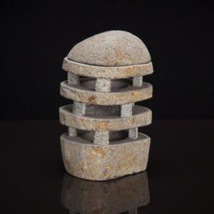 Natural Stone Tea Light Lantern