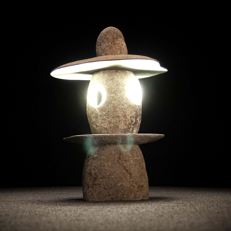 River Stone Stacked Lantern