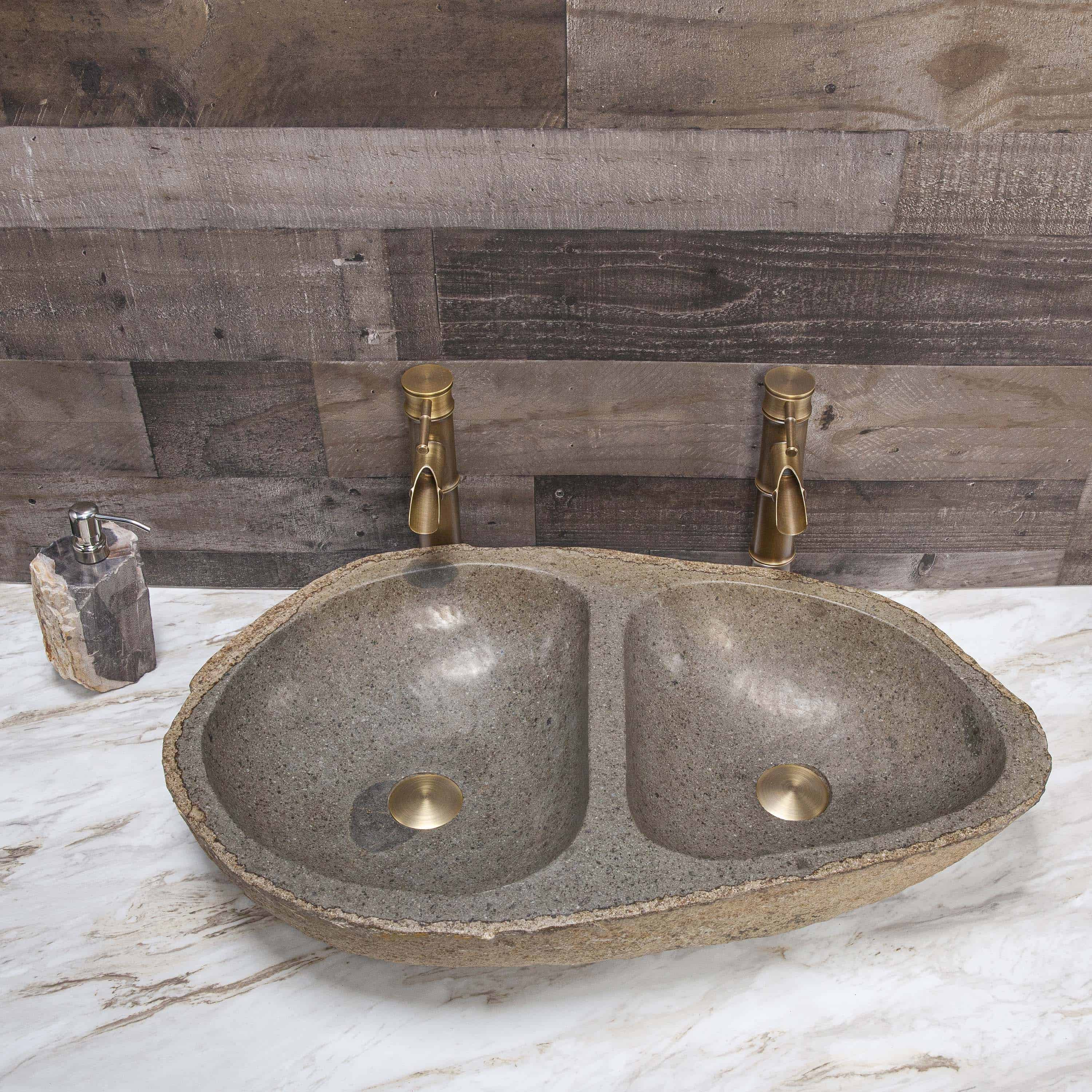 River Stone Double Vessel Sink