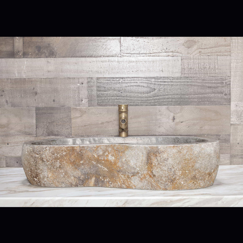 River Stone Vessel Sink