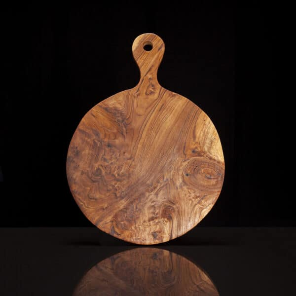 Wooden Circle Cutting Board Serving Tray